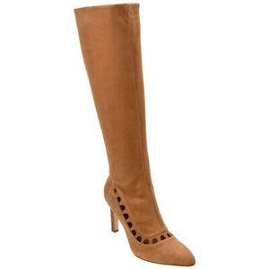 Aquatalia Aliana brown Suede Boot Cutout